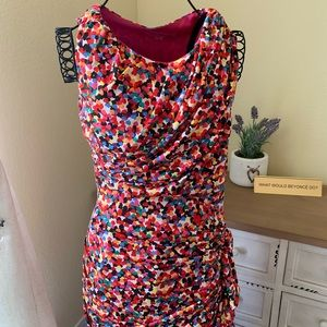 Betsey Johnson Multicolored Hearts Dress